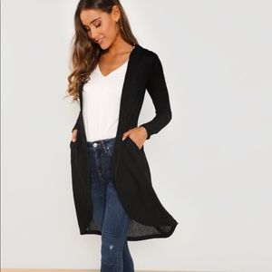 Sweaters - 💗JUST IN!⭐️💗Open Front Black Hoodie Cardigan!